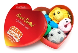 GIANTmicrobes Heart Burned Gift Box of Mini Microbes by Giant Microbes - 1