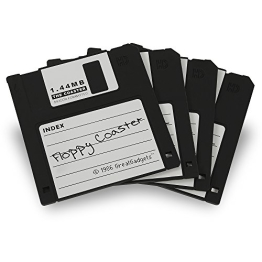 """GreatGadgets 1889-1 Untersetzer """"1.44 MB Floppy Diskette"""" (4x Schwarz) - 1"""