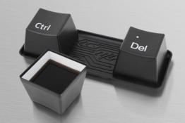 Keyboardtassen CTRL + Alt + DEL Tassenset Kaffeetassen Teetassen Tassen Set - schwarz - 1