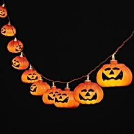 2x 10er LED Lichterkette Kürbis Halloween Deko Batteriebetrieb Lights4fun -