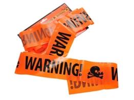 CoolChange Halloween Deko Absperrband, Warning -