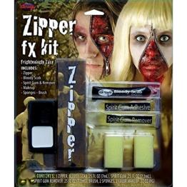 Fantastic Horror Zipper Face - Haut Reißverschluss -