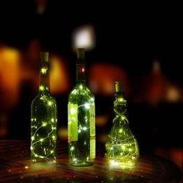 Flaschenlicht, AGPtek Weinflaschen Lichter 3-teilig Kork Flasche Mini-Lichterkette Flaschenbeleuchtung 75cm Kupferdraht Licht Sternenlicht für Flasche DIY, Weihnachten Hochzeit und Party Halloween -