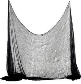 Foxxeo 35012X | Halloween Deko Stoff Dekostoff Tuch Decke Horror Halloweenstoff schwarz, Farbe:Schwarz -