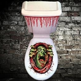 Halloween Deko Toilette Sticker Gruselig Effekt -