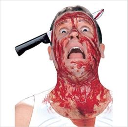 icase4u® Halloween Schocker Messer Nagel Schere Blut Horror Party deko Kopf Dekoration (A) -