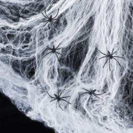 Spinnennetz inkl. 6 Spinnen Halloween Deko Lights4fun -