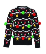 3D Weihnachtspullover für Erwachsene Damen und Herren Lustiger Xmas Pullover -