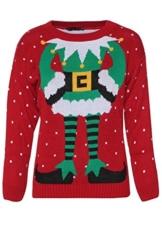 Fast Fashion Damen Pullovern Promi Inspiriert Elfe Drucken Gestrickten Weihnachts -