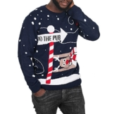 Momo&Ayat Fashions Herren Pullover Blau Blau One size Gr. xxl, Navy -