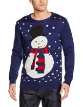 NIZZIN Unisex Weihnachtspullover Maples, Blau (Blue 19-3933Tcx), Medium -