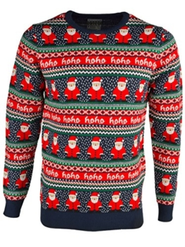 Season's Greetings 'HoHo' Herren Neuheit Christmas Jumper Schwarz S -