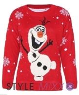 Unisex Damen Neuheit Olaf Gefrorene Weihnachtspullover Pullover Weihnachten (Size XL (EUR 44-46)) -